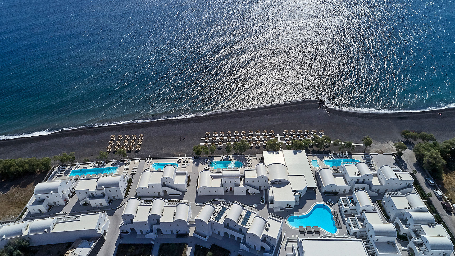 Costa Grand Resort & Spa, 5-star Hotel, Kamari Beach, Santorini