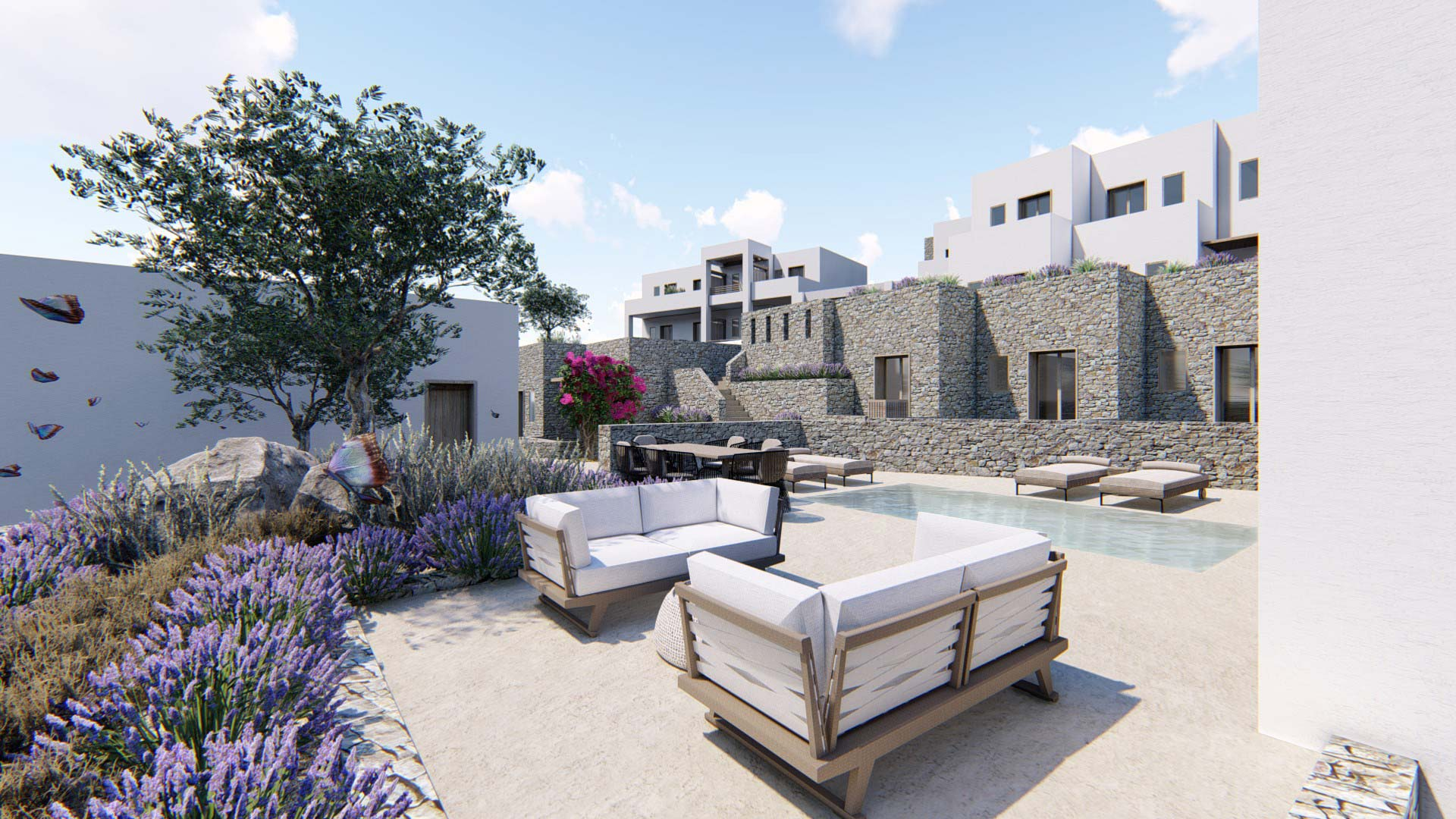 Study & Construction of a 5-star Hotel, Sotires, Paros