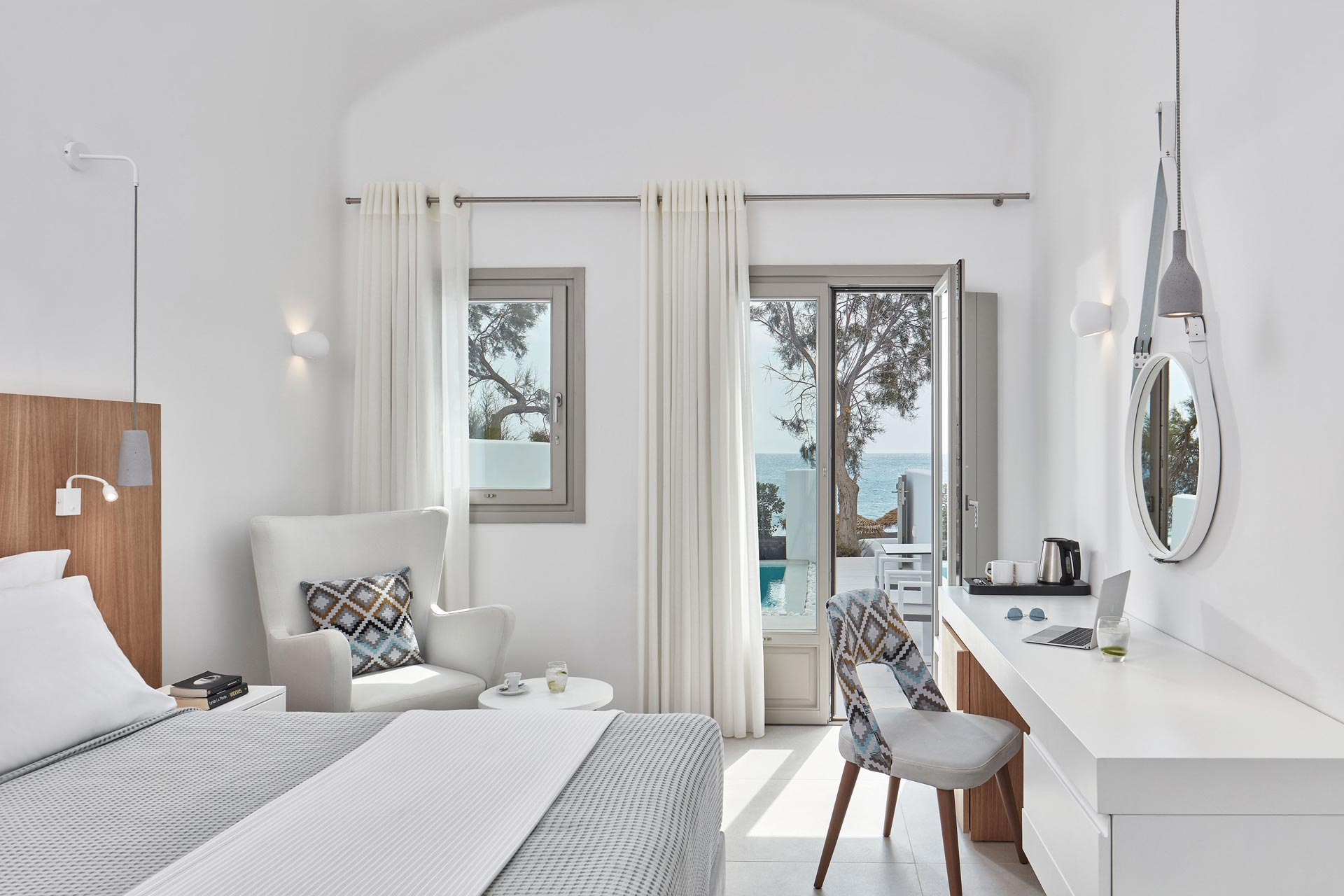 Costa Grand Suites, 5-star Hotel, Kamari Beach, Santorini